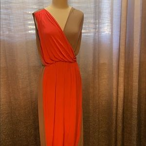 2 tone maxi dress